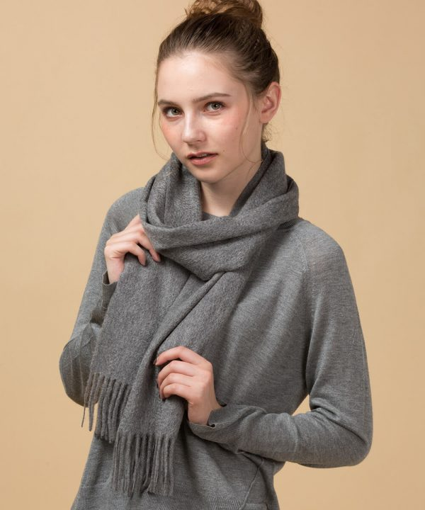 Grey 100 Cashmere Scarf