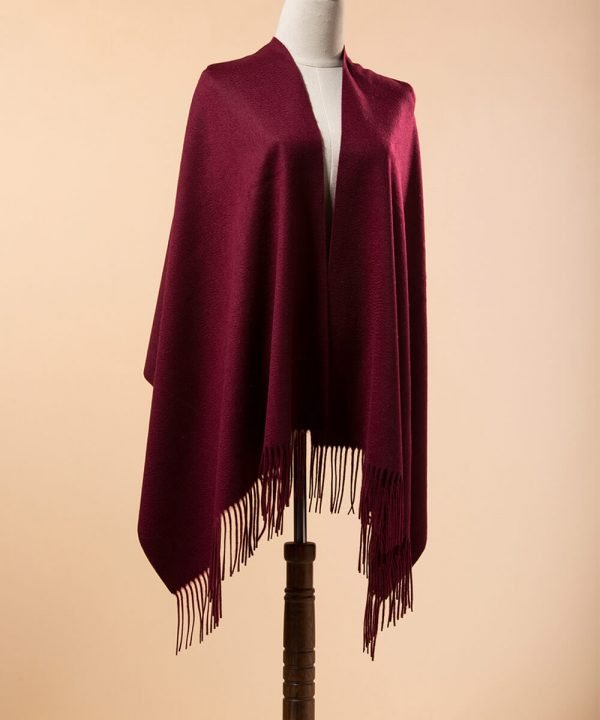 Wine Red Cashmere Scarf Womens
