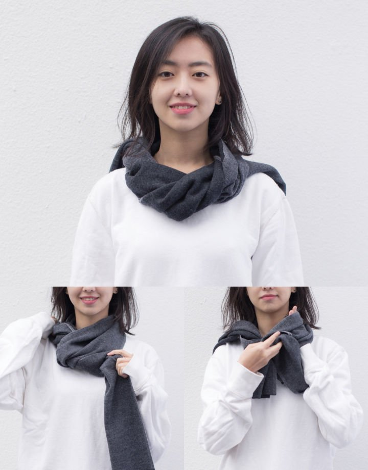 how to wear cashmere scarf