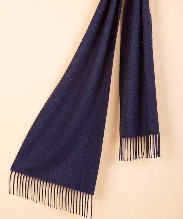 Navy Blue 100 Cashmere Scarf
