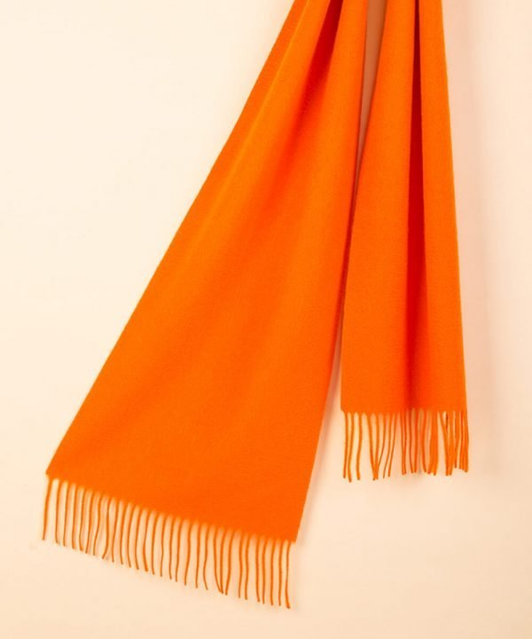 Orange 100 Cashmere Scarf