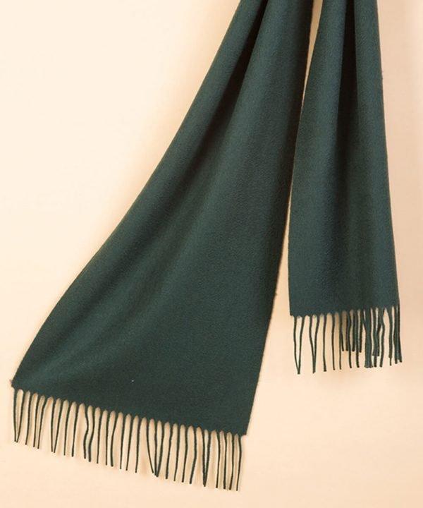 Dark Green 100 Cashmere Scarf