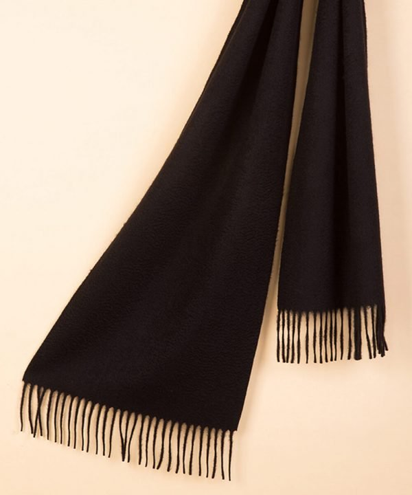 black 100 Cashmere Scarf
